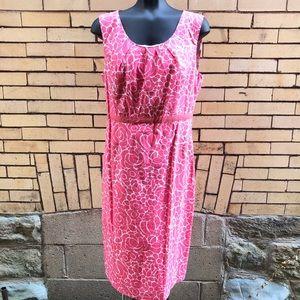 Boden pink floral dress 10